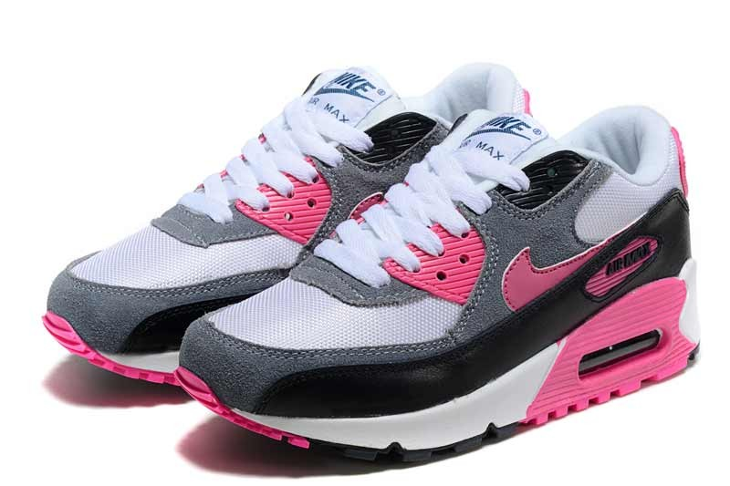 air max 90 gris blanc noir rose