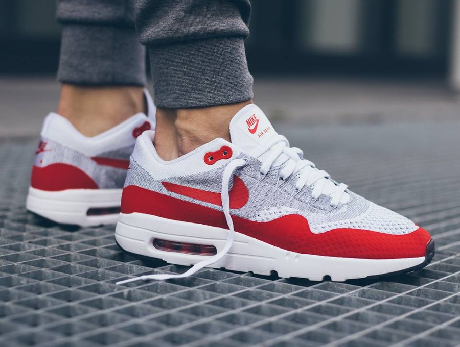 air max 1 flyknit rouge